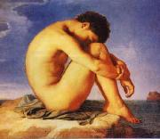 Hippolyte Flandrin Young Man Beside the Sea   1 USA oil painting reproduction
