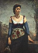 Jean Baptiste Camille  Corot Agostina2 Sweden oil painting reproduction