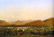 Alexandre Calame View of Geneva from Petit-Saconnex Sweden oil painting reproduction