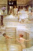 Alma Tadema A Favorite Custom Sweden oil painting reproduction