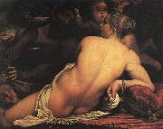 Annibale Carracci Venus with Satyr and Cupid Sweden oil painting reproduction