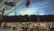 Antonio  Carnicero Balloon Ascent at Aranjuez Sweden oil painting reproduction