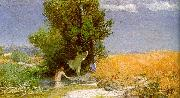 Arnold Bocklin Nymphs Bathing Sweden oil painting reproduction