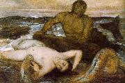 Arnold Bocklin Triton and Nereid Sweden oil painting reproduction