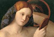 BELLINI, Giovanni Naked Young Woman in Front of the Mirror (detail) oil painting picture wholesale