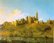 Canaletto Alnwick Castle, Northumberland Sweden oil painting reproduction