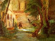 Charles Blechen Monastery in the Wood Sweden oil painting reproduction