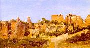 Charles Blechen The Ruins of the Septizonium on the Palatine in Rome Sweden oil painting reproduction