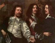 DOBSON, William The Painter with Sir Charles Cottrell and Sir Balthasar Gerbier dfg oil painting picture wholesale
