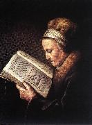 DOU, Gerrit Old Woman Reading a Bible dfg oil painting picture wholesale