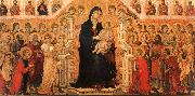 Duccio di Buoninsegna Madonna and Child Enthroned with Angels and Saints Sweden oil painting reproduction