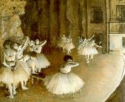 Edgar Degas Ballet Rehearsal on Stage Sweden oil painting reproduction