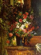 Eugene Delacroix Bouquet of Flowers on a Console_3 Sweden oil painting reproduction