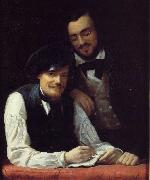 Franz Xaver Winterhalter Self Portrait of the Artist with his Brother, Hermann Sweden oil painting reproduction