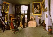 Frederic Bazille The Artist's Studio on the Rue de la Condamine Sweden oil painting reproduction
