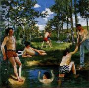 Frederic Bazille Summer Scene Sweden oil painting reproduction
