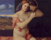 Giovanni Bellini Young Woman at her Toilet Sweden oil painting reproduction