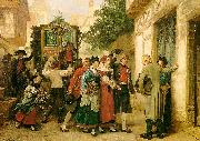 Gustave Brion Wedding Procession Sweden oil painting reproduction