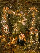 Jan Brueghel Holy Family in a Flower Fruit Wreath Sweden oil painting reproduction