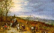 Jan Brueghel Wayside Encounter Sweden oil painting reproduction