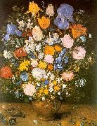 Jan Brueghel Bouquet of Flowers in a Clay Vase Sweden oil painting reproduction