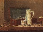 Jean Baptiste Simeon Chardin Pipes and Drinking Pitcher Sweden oil painting reproduction