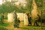 Jules Breton The Communicants Sweden oil painting reproduction