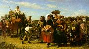 Jules Breton The Vintage at the Chateau Lagrange Sweden oil painting reproduction