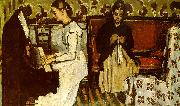 Paul Cezanne Girl at the Piano Sweden oil painting reproduction