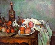 Paul Cezanne Onions and Bottles Sweden oil painting reproduction