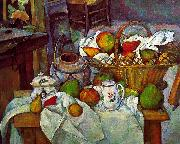 Paul Cezanne Vessels, Basket and Fruit Sweden oil painting reproduction
