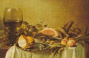 Pieter Claesz Breakfast with Ham Sweden oil painting reproduction