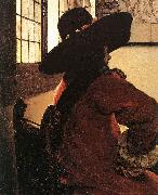 VERMEER VAN DELFT, Jan Officer with a Laughing Girl (detail)  jhg oil painting picture wholesale