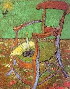 Vincent Van Gogh Gauguin's Chair with Books and Candle Sweden oil painting reproduction