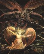 William Blake The Great Red Dragon and the Woman Clothed with the Sun Sweden oil painting reproduction