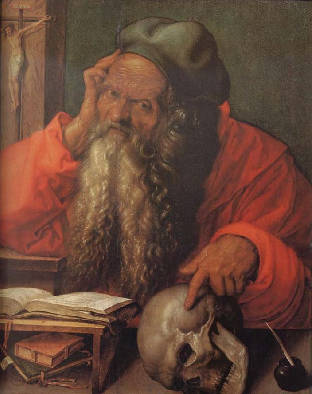 Cardinal Albrecht of Brandenburg as Saint Jerome