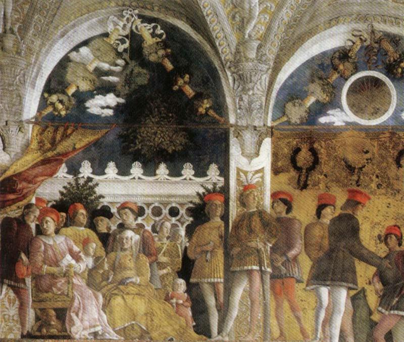 Andrea mantegna la famille et le tribunal de ludovico for La camera degli sposi di andrea mantegna
